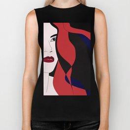 Gala #red #hair #portrait #wild #halloween #artwork #buyart Biker Tank