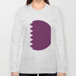 flag of qatar Long Sleeve T-shirt