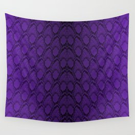 Purple and Black Python Snake Skin Wall Tapestry