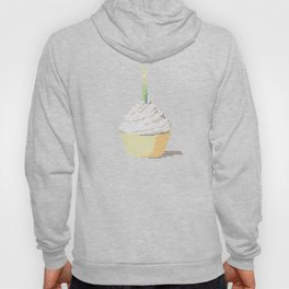 Happy Birthday Cupcake in a Real Cross Stitch Pattern - Color Coded Chart - Wearable Fiber Art Patte Hoody