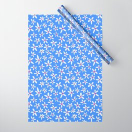 Blue Modern Blooms Wrapping Paper