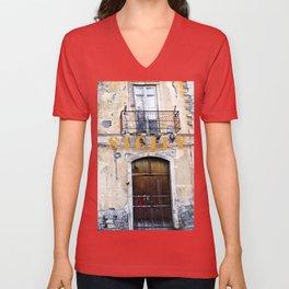 Antique Facade - Sicily Unisex V-Neck