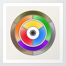 The theory of colouring - Diagram of colour by J. Bacon, 1866, Remake (no text) Art Print
