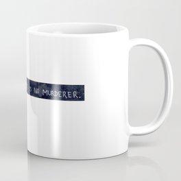 NORMAN BATES IS NO MURDERER. (WHITE VERSION) Coffee Mug
