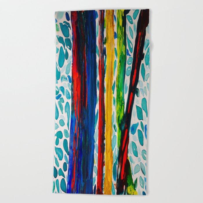 Rainbow Eucalyptus Graffiti Artist Tree naturally shedding bark from the South Pacific Beach Towel