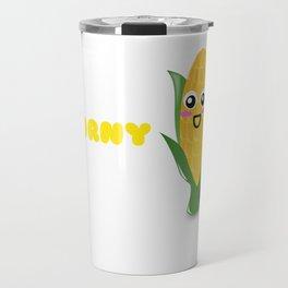 I Love Corny Puns Cute Corn Pun Travel Mug
