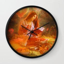 The Poetess Wall Clock