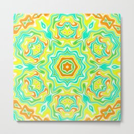 Summer Kaleidoscope 3 Metal Print