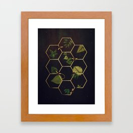 Bees in Space Framed Art Print