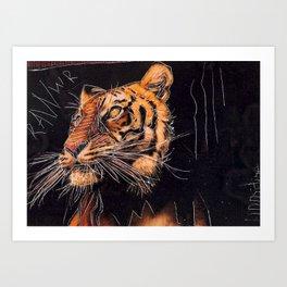 TIGER RAWR Art Print