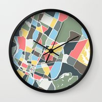 austin Wall Clocks featuring Austin Texas. by Studio Tesouro