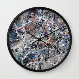Number 3 Abstract Painting by Mark Compton Wall Clock