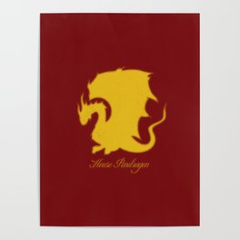 Distressed Pendragon Crest Poster