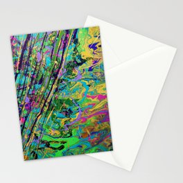 Mardi Gras Marble Stationery Cards