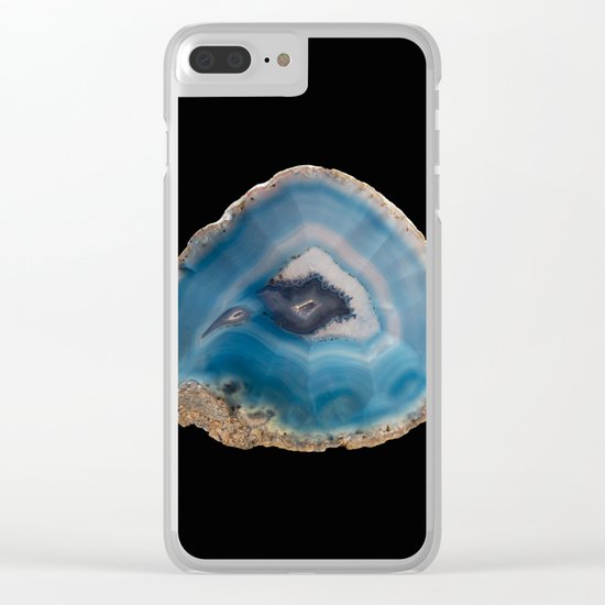 Blue Geode Clear iPhone Case