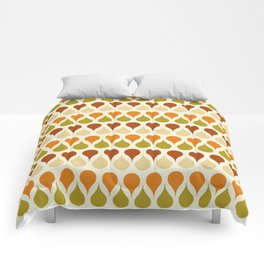 Pastel vintage 60s color drop pattern Comforters