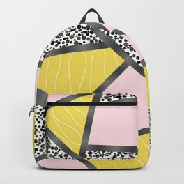 Pink yellow black Backpack