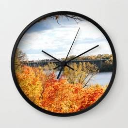 Twin Cities Mississippi River Wall Clock