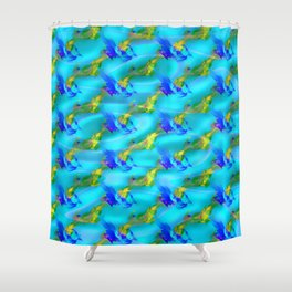 Jolly jumpers pattern Shower Curtain