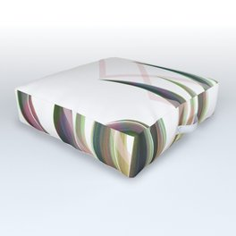 Tropical Desire - Foliage and geometry Outdoor Floor Cushion