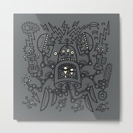 Evil Crabkillbot from Crab Nebula Against Humanity Metal Print