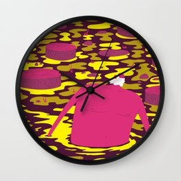 Moving in Swamp Wall Clock