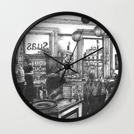 Coffee in the Afternoon Wall Clock