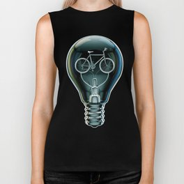 Dark Bicycle Bulb Biker Tank