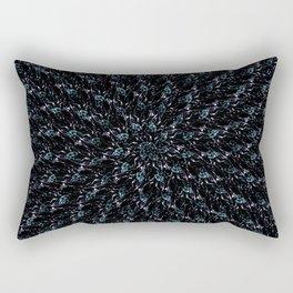 Fractal Ice Flower Pattern Rectangular Pillow
