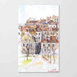 Old Town in Warsaw Poland Canvas Print