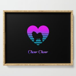 Chow Chow Love Cyberpunk Vaporwave Dog Puppy Gift Serving Tray
