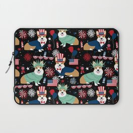 Corgi July 4th USA America Independence Day Corgis Laptop Sleeve