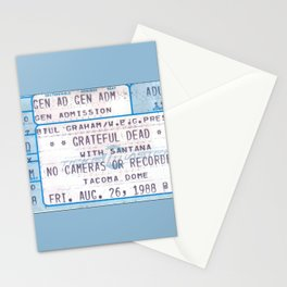 Concert Ticket Stub -The Dead in '88 Stationery Cards