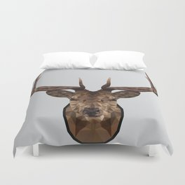 Low Poly Wild Stag Duvet Cover