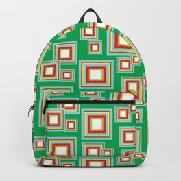 Square Pattern Backpack