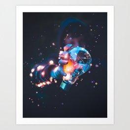 Colour Blast Art Print