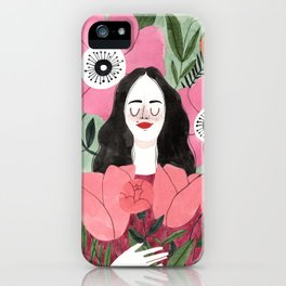 Among Flowers iPhone Case