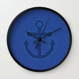 Anchor Points Wall Clock