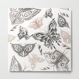 Butterfly design classic elegant graphic design Metal Print