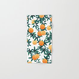 Orange Twist Flower Vibes #2 #tropical #fruit #decor #art #society6 Hand & Bath Towel