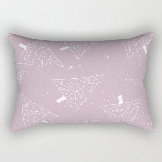 Christmas Trees Pink Rectangular Pillow