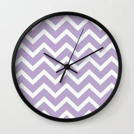 Lilac Chevron Pillow Wall Clock