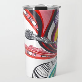 Fanning Teardrops Abstract Travel Mug