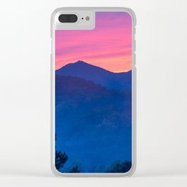 Blue Mountain Sunrise Clear iPhone Case