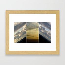2 sunsets in one Framed Art Print