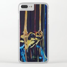 Raining Poisonous Beauty Clear iPhone Case