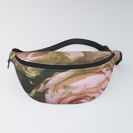 Shabby Chic Soft Peach-Pink Roses Fanny Pack