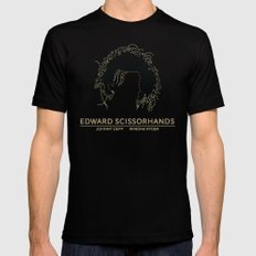 Edward Scissorhands Poster Mens Fitted Tee MEDIUM Black