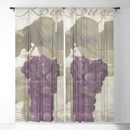 Tuscan Table Rouge Sheer Curtain