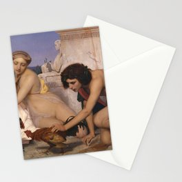 Young Greeks Attending a Cock Fight by Jean-Leon Gerome Stationery Cards
